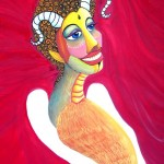 Alone  - - -  Technique: Acrylic on canvas Size: 35X40 cm. Price: 1200 USD