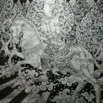 Name: มหาภิเนษกรมณ์  / Technique : acrylic on canvas / size: 140X150 Cm / Year: 2012