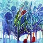 Name: Meet blue tree/ Technique :Watercolor /size :58 x 48cm / Price : 250 usd.