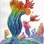 Name: Under the sea / Technique :Watercolor /size :41 x 48cm/ Price :  200 usd.
