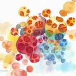 Name : Bubble trees/ Technique :Watercolor /size :58x48cm / Price :  235 usd.