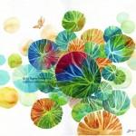 Name : Bubble trees 02/ Technique :Watercolor /size :58x48cm / Price : 235 usd.