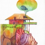 Name: Cliff House / Technique :Watercolor /size :45.5 x 55.5cm / Price : 235 usd.