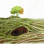 Name: Eye of tree / Technique :Watercolor /size :39 x 34cm/ Price : 118 usd.