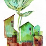Name: Green house/ Technique :Watercolor /size :39x 50cm/Price : 185 usd.