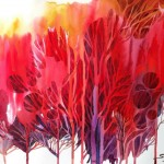 Name: Red tree/ Technique :Watercolor /size :50 x59cm /Price : 250usd