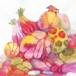 Name : Vegetarian rocks / Technique :Watercolor /size :50 x59cm /Price : 235 usd.