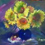 Art Name : flower 01/Technique : Oil on canvas /Size ; 50 x 60 cm./Price : 7,000 USD