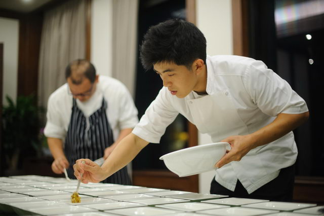 Chef Ton from Le Du restaurant
