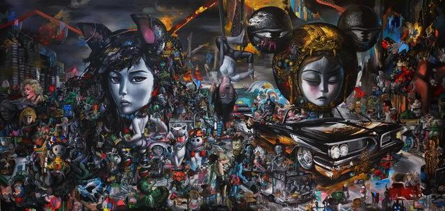s soul, Acrylic on Canvas,190x400cm,2016.