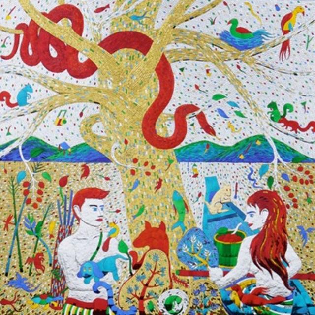 Universe No.6_Mirror-mosaic-on-wood-panal_150x150cm_30kg_2016_300,000 THB